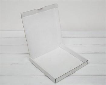 Коробка плоская 20,5х20,5х3 см, белая - фото 6278