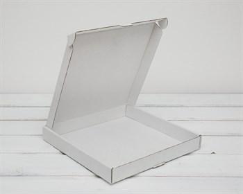 Коробка плоская 22,5х22,5х3 см, белая - фото 6282