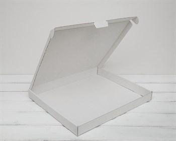 Коробка плоская 40х33,5х4 см, белая - фото 6314