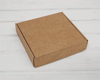 Коробка для посылок 18х18х4 см, из плотного картона, крафт - фото 6335