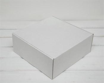 Коробка для посылок, 25х25х10 см, из плотного картона, белая - фото 6348