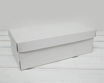 Коробка из плотного картона, 30,5х16х10 см, крышка-дно, белая - фото 6369