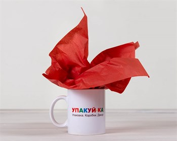 Бумага тишью, красная, 50х66 см - фото 6473