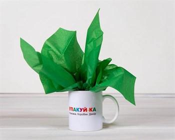 Бумага тишью, зеленая, 50х66 см - фото 6474