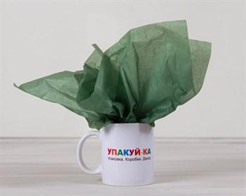 Бумага тишью, темно-зеленая, 50х66 см - фото 6477