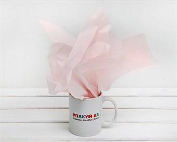 Бумага тишью, светло-розовая, 50х66 см - фото 6480
