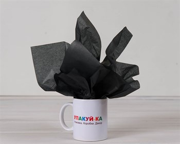 Бумага тишью, черная, 50х66 см - фото 6489