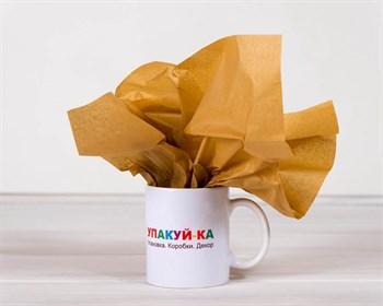 Бумага тишью, молочный шоколад, 50х66 см - фото 6492