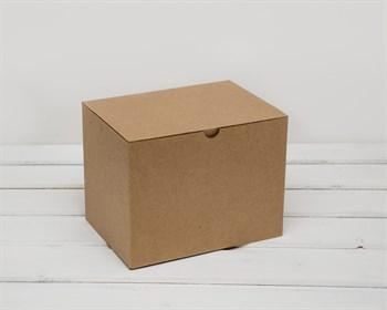 Коробка для посылок, 21х16х15 см, из плотного картона, крафт - фото 6628