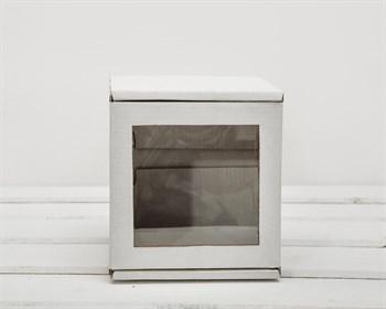 Коробка с окошком, 12х12х12 см, из плотного картона, белая - фото 6663