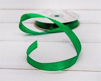 Лента атласная, 12 мм, зеленая, 27 м - фото 6797