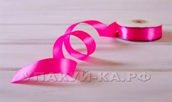 Лента атласная, 24 мм, ярко-розовая, 27 м - фото 6816