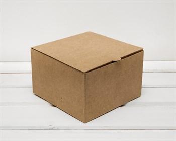 Коробка для капкейков/маффинов на 4 шт, из плотного картона, 16х16х10 см, крафт ( БЕЗ ЛОЖЕМЕНТА) - фото 6915