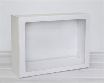 УЦЕНКА Коробка с прозрачным окошком 40х30х12, белая - фото 6930