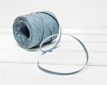 Рафия искусственная, серо-голубая, 3 м - фото 6970