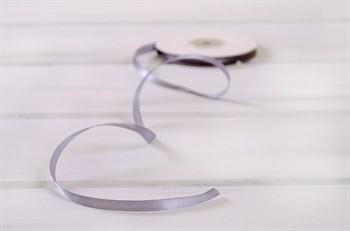 Лента атласная, 6 мм, светло-серая, 1 м - фото 6975