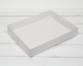 Коробка с прозрачной крышкой Классика, 28х22х4,5 см, белая - фото 7103