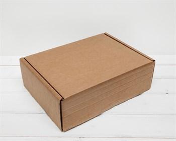 Коробка для посылок, 30х23х10 см из плотного картона, крафт - фото 7117