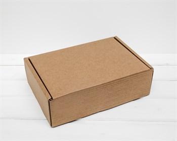Коробка для посылок, 28х20х9 см из плотного картона, крафт - фото 7119