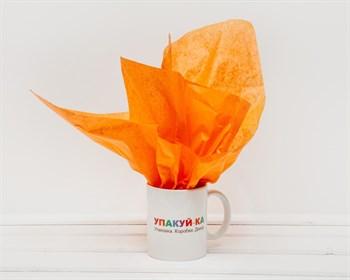 Бумага тишью, оранжевая, 50х66 см - фото 7147