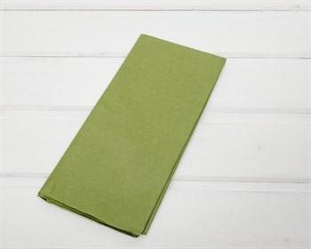 Бумага тишью, оливково-зеленая, 50х66 см, 10 шт. - фото 7154