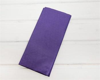Бумага тишью, сиренево-синяя, 50х66 см, 10 шт. - фото 7161