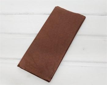 Бумага тишью, шоколад, 50х66 см 10 шт. - фото 7251