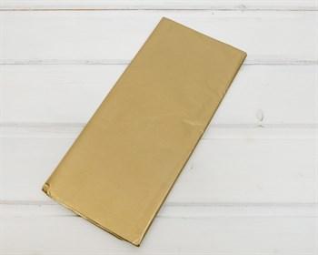 Бумага тишью, золотая, 50х66 см 10 шт. - фото 7259