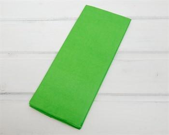 Бумага тишью, зеленое яблоко, 50х66см 10 шт. - фото 7263