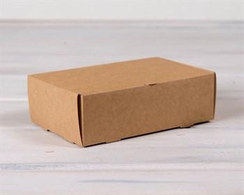 Коробка для выпечки и пирожных, 18,5х12,2х6 см, крафт - фото 7279