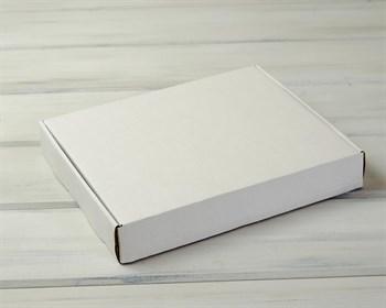 Коробка для пирога 29х24х4,5 см из плотного картона, белая - фото 7299