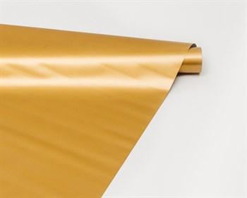 Пленка матовая, 50см х 10м, золотая, 1 рулон - фото 7304