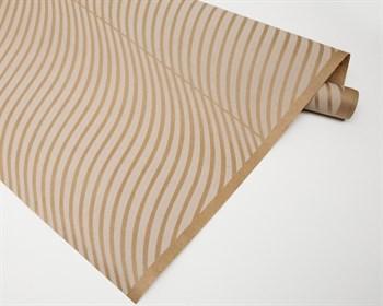 Бумага упаковочная, волна белая, 70см х 10м, крафт, 1 рулон - фото 7344