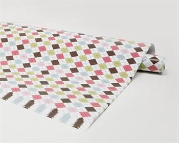Бумага упаковочная, 70х100 см, ромбики цветные, 1 лист - фото 7350