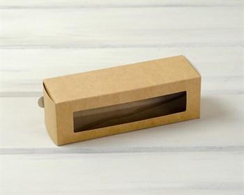 Коробка для макаронс на 6 шт, 18,5х6х6 см, с прозрачным окошком, крафт - фото 7403