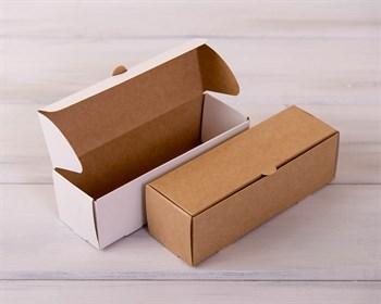 Коробка для макаронс на 6 шт, 18,5х6х6 см, двусторонняя (белая/крафт) - фото 7443