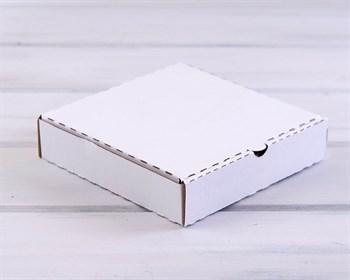 Коробка 19х19х4 см из плотного картона, белая - фото 7458