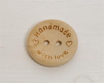 Пуговица деревянная, HANDMADE, 25 мм - фото 7481