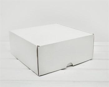 Коробка для посылок, 24х24х10 см, из плотного картона, белая - фото 7521