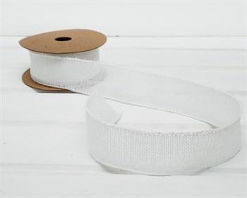 Лента джутовая 40 мм, белая, 1 м - фото 7532