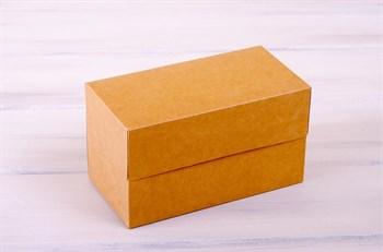 Коробка для капкейков/маффинов на 2 шт, 19х10х11 см, крафт - фото 7567
