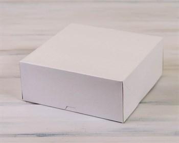 Коробка для торта от 1 до 3 кг,  25,5х25,5х10,5 см, d= 15-25 см, белая - фото 7580