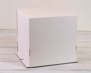 Коробка для торта от 1 до 5 кг, 30х30х30 см, белая - фото 7604