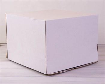 Коробка для торта усиленная от 1 до 8 кг, 40х40х29 см, белая - фото 7617