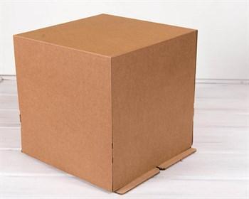Коробка для торта от 1 до 5 кг, 30х30х30 см, крафт - фото 7621