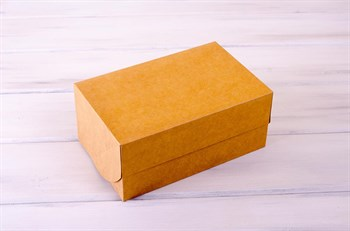 Коробка для капкейков/маффинов на 6 шт, 25х16х11, крафт - фото 7625