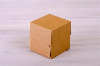 Коробка для капкейков/маффинов на 1 шт, 10х10х11 см, крафт - фото 7635