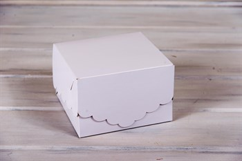 Коробка для капкейков/маффинов на 4 шт, с кружевом, 17х17х11 см, белая - фото 7638