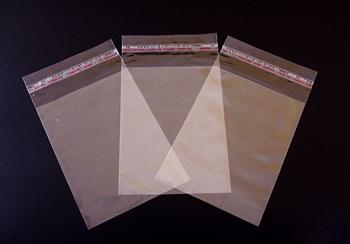 Пакет  с клейкой лентой 12,5х17 см, прозрачный - фото 7667