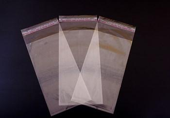 Пакет  с клейкой лентой 11,5х22 см, прозрачный - фото 7672